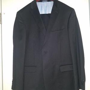 TOMMY HILFIGER Wool 40R Men's 2-Piece Suit Black